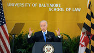 Vice President Joe Biden, speaking Tuesday at an event in Baltimore, said he was unsure whether there is enough support in the Senate for what would be the biggest change to federal gun laws in decades.