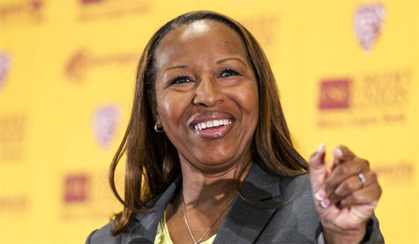New USC women's basketball Coach Cynthia Cooper-Dyke, 50, had a 150-106 record in eight seasons at Texas Southern, UNC-Wilmington and Prairie View A&M.