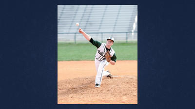 Brantley Rice throws for the North Star Cougars at home on Tuesday.