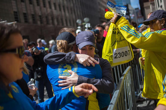 Runners embrace