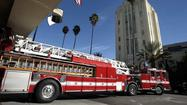 A Los Angeles Fire Department ladder truck