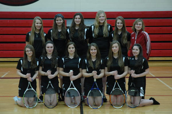 The first East Jordan girls' tennis team.