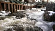 BAY CITY, Mich. (AP) — Michigan's Grand and Saginaw rivers were overflowing their banks Tuesday in the aftermath of recent rainstorms and snowmelt, causing debris to clog some waterways and make boating hazardous, authorities say.