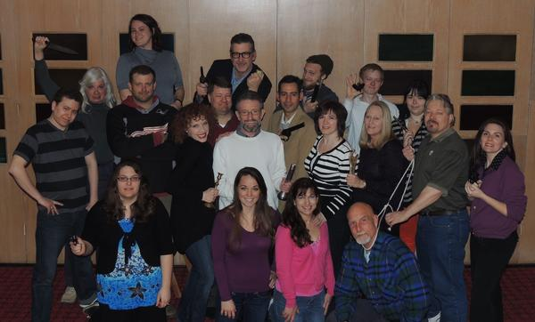 """The cast of """"Clue"""" includes (back row, from left) Mandy Robinson, Jim Russell, Joshua Watton, Jonathan Werden, Isabella Kellogg; (middle row) Justin Lewis, Laura Steele, Christopher Heinz, Nikki Devitt, Reg Smith, Larry Willis, William Santos, Dawn Ulrich, Robyn Ellis, Tracy Ulrich, Cassandra Phillips; (front row) Amber Gettel, Aleece Balchik, LeaAnne Montel, Paul Moore; and not pictured, Benjamin Frisbey, Issac Eby and Skylar Hallas. The Little Traverse Civic Theatre production opens Thursday, April 25, in Petoskey."""