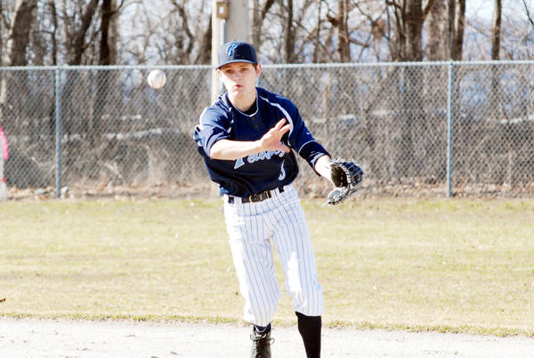 Petoskey senior second baseman Danny Clancy hit a pair of home runs in the second game of Tuesday's season-opening doubleheader against Cadillac as the Northmen swept the Vikings, 6-1 and 11-5.