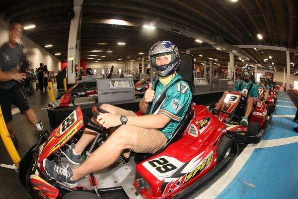 Miami Dolphins Visit K1 Speed With Foster Kids K1 Speed
