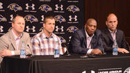 The conversations didn't just start in the aftermath of the Ravens' victory in Super Bowl XLVII. They actually began four months earlier when Ravens general manager <strong>Ozzie Newsome</strong>, owner <strong>Steve Bisciotti </strong>and coach <strong>John Harbaugh</strong> started to meet and plan for 2013 and beyond.