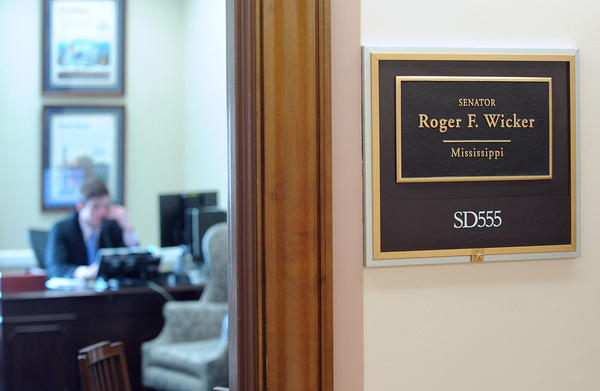 A staffer working in the office of Sen. Roger Wicker (R-Miss). Wicker was sent a letter Tuesday containing the poison ricin.