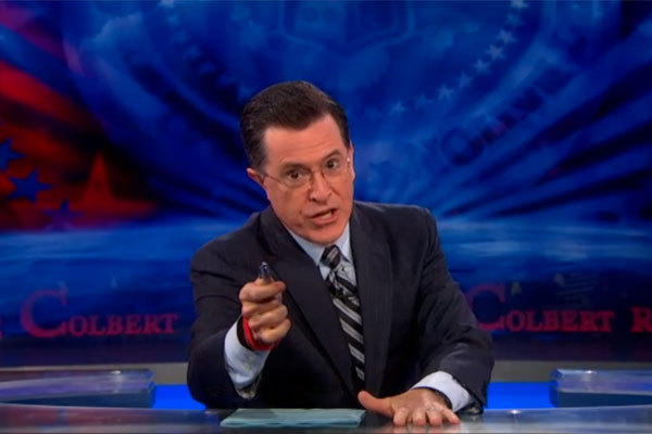 "Stephen Colbert discussed the Boston bombings in this intro to Tuesday night's ""Colbert Report."""
