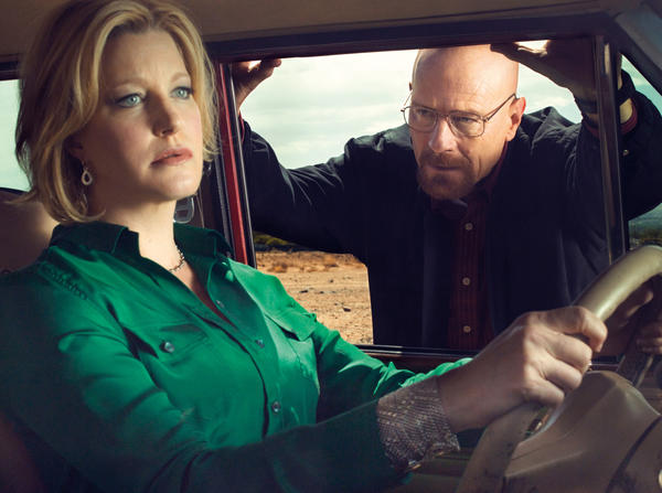 "Anna Gunn and Bryan Cranston in a scene from AMC's ""Breaking Bad"""