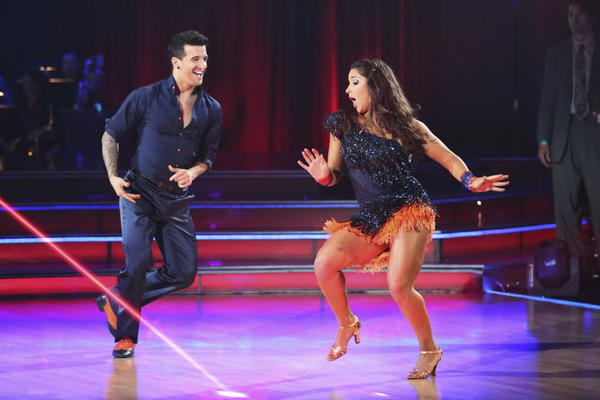 "Mark Ballas and Aly Raisman compete Monday on ""Dancing With the Stars."""