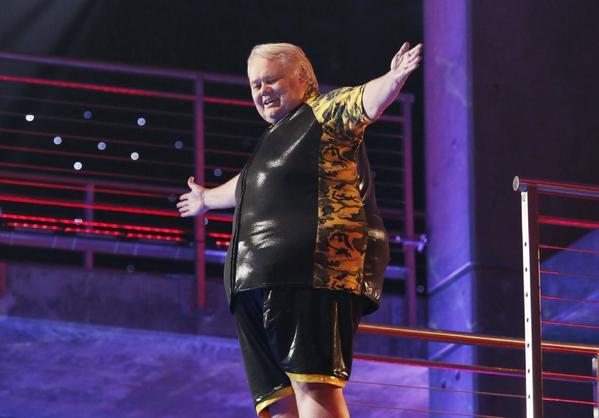 """Splash"" viewers haven't seen the last of Louie Anderson, who's returning to the show after the sudden exit of Katherine Webb."