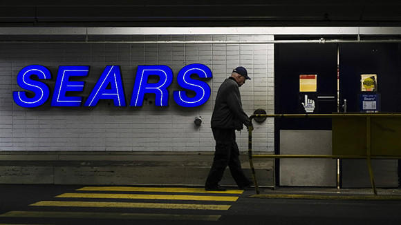 A customers enters the Sears store in North Vancouver, British Columbia in this February 23, 2011 file photograph.