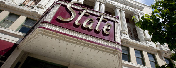 State Theatre in dowontown South Bend. (South Bend Tribune/JAMES BROSHER)