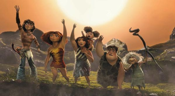 A scene from the movie 'The Croods.'