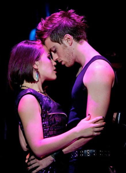 "Alyssa DiPalma (Whatsername) and Alex Nee (Johnny) in ""American Idiot."""