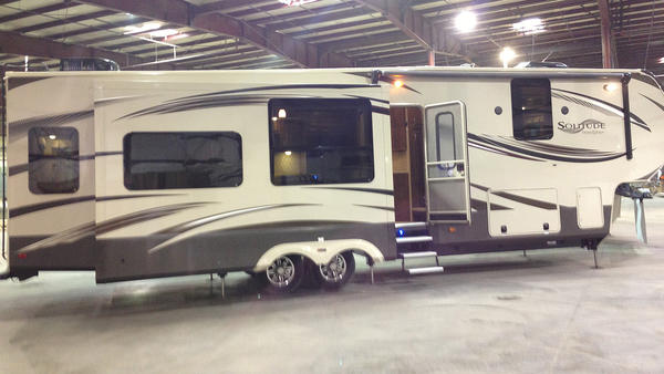 South Bend Tribune/JIM MEENAN Solitude is the lone product thus far produced by start-up RV maker Grand Design in Middleberry.