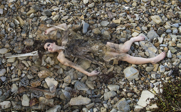 Biola University photography major Jessica Treskes superimposes an image of a decomposed pelican and her sister, Beth. The photo is part of Treskes art gallery Dwellers of the Dust, which tries to convey the message that there is beauty in death.