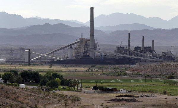 The Reid-Gardner power station on the Moapa Indian Reservation in Moapa, Nev. Nevada is among the states lobbying the EPA to finalize new greenhouse gas rules.