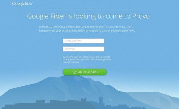 Google hopes to bring Google Fiber to Provo, Utah, at speeds of 1 gigabit.