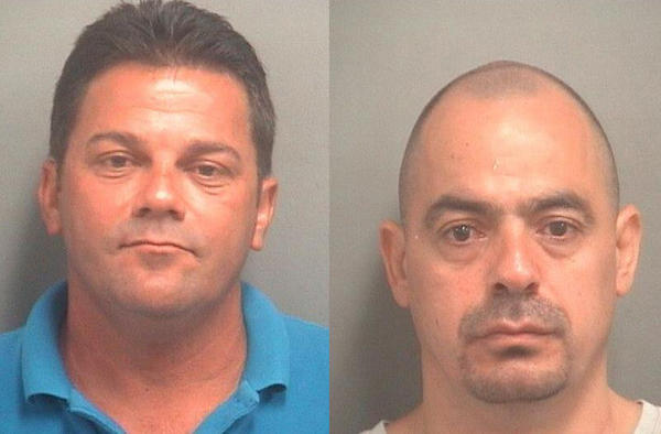 Amado Rodriguez of Lake Worth, left, and Rene Aquino of Miami are accused of participating in a car insurance fraud scheme after investigators say they were paid $2,000 for therapy they never needed after a crash without injuries.