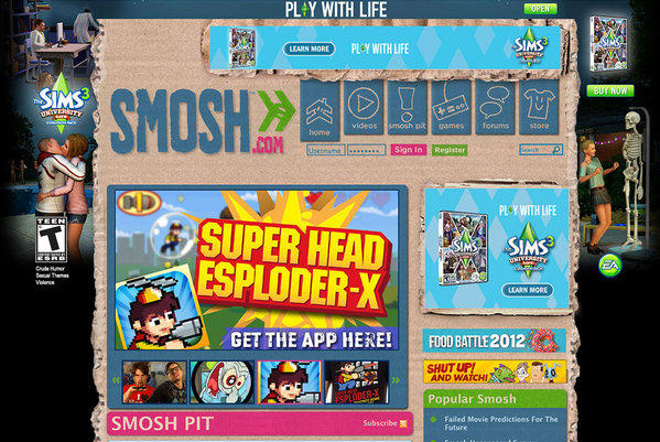 Smosh is one of Alloy's popular sites.