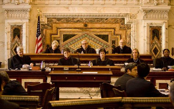 "The 9th Circuit Court of Appeals is shown. During a hearing in San Francisco on Wednesday, a three-judge panel of the court considered two lower-court rulings that reached opposite conclusions about the constitutionality of the new state law prohibiting ""conversion therapy"" for gays."