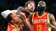 Greg Smith, Pau Gasol, James Harden