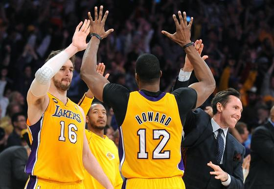 High-five, high-10, 15, 20 ... and keep going until you get to 40 -- as in 40-1 -- if you want to know the odds of the Lakers winning the NBA championship.