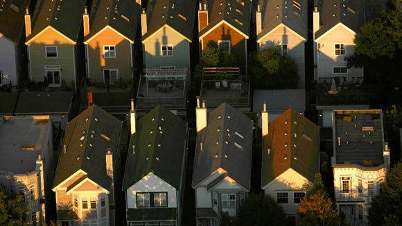 A 2008 aerial photo of a South Loop neighborhood.
