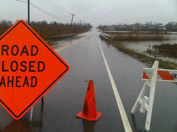 The roadway west of 143rd Street in Orland Park is still closed as of 10:30 a.m. Due to flooding.