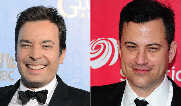 Late-night hosts Jimmy Fallon, left, and Jimmy Kimmel aren't just funny, they're influential too, according to the Time 100 list.