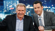 Harrison Ford, left, and Jimmy Kimmel on 'Jimmy Kimmel Live'
