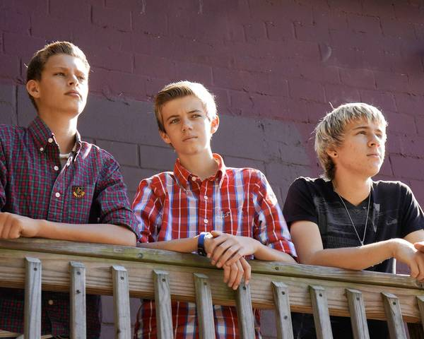 Members of The Rads alternative rock band, from left, Matt DiPietro, Shaun Hovel, and Blake Cymerys.