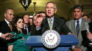 "Senate Majority Leader Harry Reid (D-Nev.) formally suspended the Democrats' drive for new gun control legislation Thursday, shelving his party's bill after Wednesday's defeat of its centerpiece, a measure for expanded background checks on gun purchasers. But Reid, along with President Obama and former House Speaker Nancy Pelosi (D-San Francisco), insisted that they are determined to fight on. ""This debate is not over,"" Reid said. ""In fact, this fight is just beginning."""