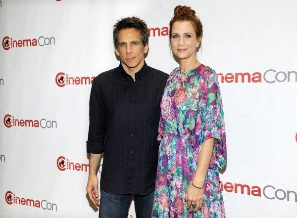 "Ben Stiller and Kristen Wiig promote ""The Secret Life of Walter Mitty"" at CinemaCon."