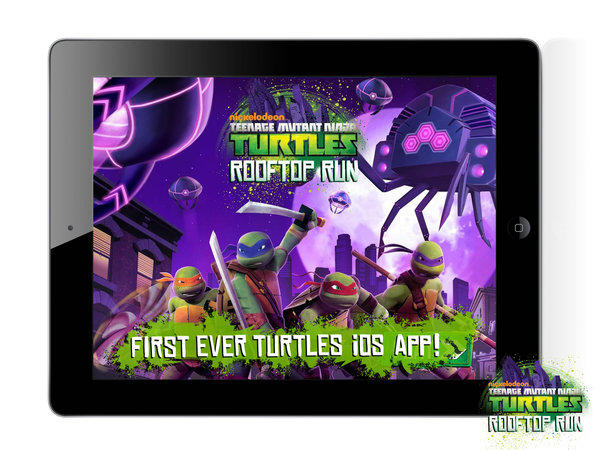 "The Teenage Mutant Ninja Turtles have made their way onto tablet gaming in the ""Rooptop Run"" app."