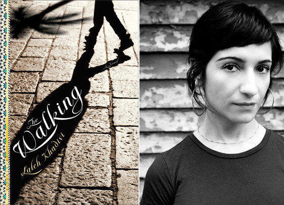 "The cover of ""The Walking,"" and author Laleh Khadivi."