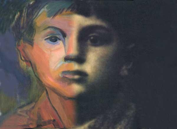 """An old photo inspired Roz Jacob's painting featured in """"Finding Kalman"""" on KVCR"""