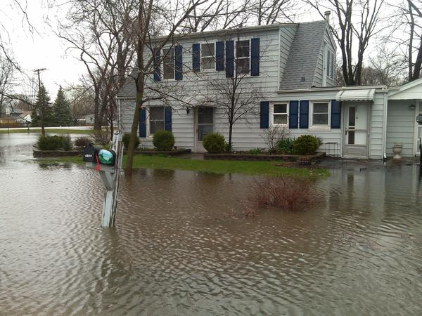 A flooded home in Tinley Park.