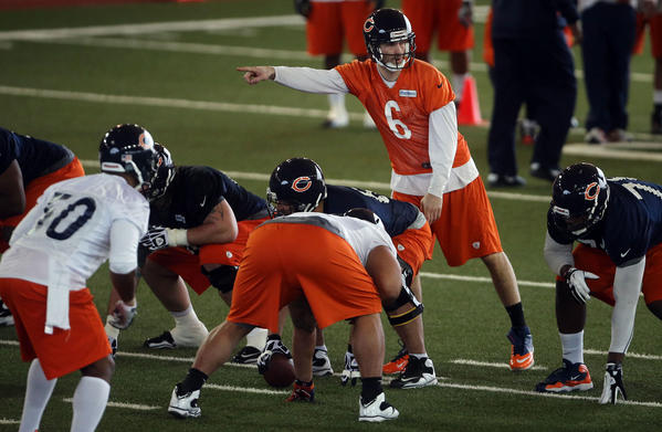 Quarterback Jay Cutler during minicamp.