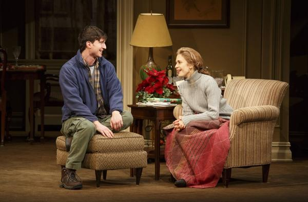 "Jake Silbermann portrays Tim and Jessica Hecht is Julie in ""The Assembled Parties."""
