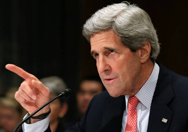 "Secretary of State John F. Kerry said of the dispute with Iran, ""We don't need to spin this up at this point in time."""
