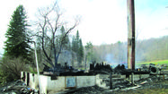 A family of five was left homeless after a fire destroyed a Shanksville area home.