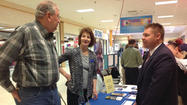 Eighty-five vendors lined the hallways of Chambersburg Mall on Thursday for the third annual Here to Help job fair.