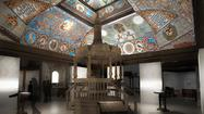 The reconstructed ceiling of a wooden-roofed synagogue is a highlight of one of the principal galleries in Warsaw's new Museum of the History of Polish Jews.
