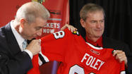 Pat Foley wasn't behind a microphone when Patrick Kane's overtime goal in Game 6 of the 2010 Stanley Cup finals lifted the Blackhawks to their first championship in 49 years.