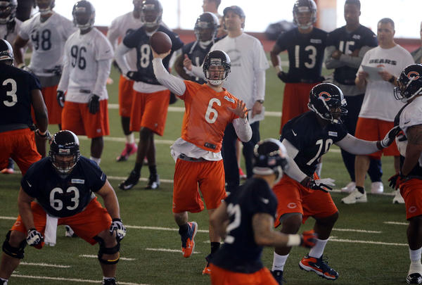 Quarterback Jay Cutler during Bears minicamp.