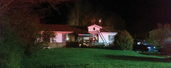Firefighters battled a blaze Thursday night at a home near the intersection of Anthony Highway (Pa.997) and Stottlemyer Road near Waynesboro, Pa.