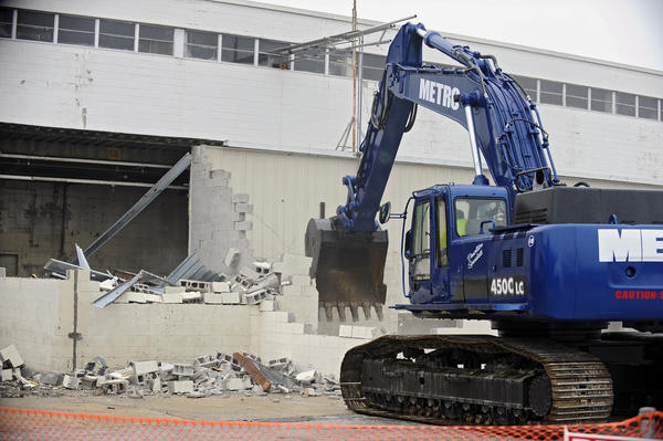 Demolition of the former Solo Cup plant in Owings Mills begins.
